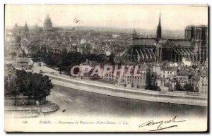 Old Postcard Paris Panorama of Paris to Notre Dame