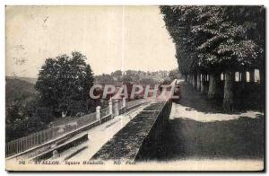 Old Postcard Avallon Square Houdaille