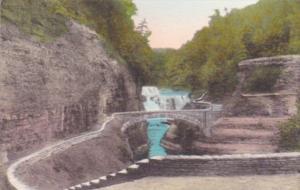 Lower Falls Bridge Over Genesee River Gorge Letchworth State Park Castile New...