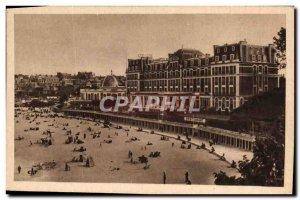 Old Postcard Dinard L & # 39Hotel Royal News And Cabins Bath