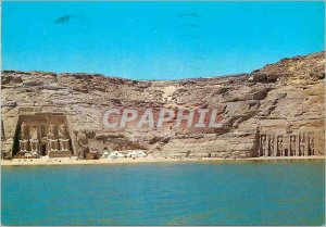 Postcard Modern Abu Simbel Two temples in the rock cruses