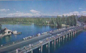 Yellowstone National Park Fishing Bridge Spanning Yellowstone River