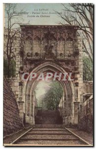 Old Postcard Chambery Savoie Portal St. Dominic castle Entree