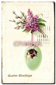 Old Postcard Fantasy Bird Egg
