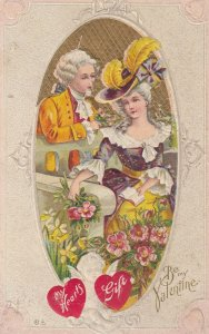 VALENTINE'S DAY, PU-1911; Be My Valentine, Men Talking To A Women