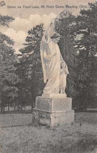 Reading Ohio Mt Notre Dame Statue Vintage Postcard JA455550