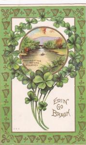 KILLARNEY, Ireland, PU-1912; Meeting of the Waters, Clovers, Erin Go Bragh