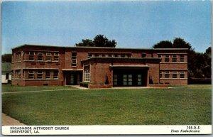 Shreveport, Louisiana Postcard BROADMOOR METHODIST CHURCH Building View c1950s