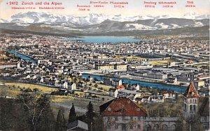 Zurich und die Alpen Switzerland Unused