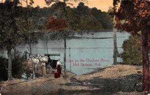 LP90 Hot Springs Arkansas Vintage Postcard Ferry Oucheto River