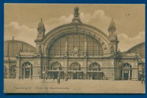 Frankfurt a M Portal des Hauptbahnhofes Railway Station Germany postcard