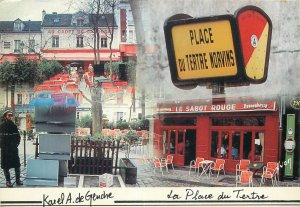 Postcard Hotel Restaurants Place du tertre Norvins