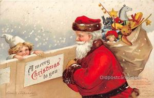 Christmas  Ellen H Clapsaddle International Art Publishing Co. 1910 light pai...