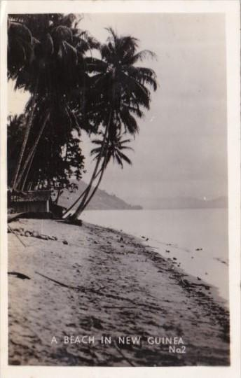 Papua New Guinea Typical Beach Scene Real Photo