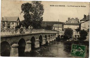 CPA BAR - SUR - seine .- Le pont sur la seine  (197088)