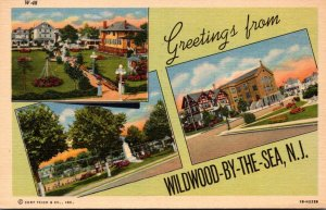 New Jersey Greetings From Wildwood By The Sea Curteich