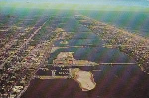 Florida Daytona Beach Aerial View Of 5 Bridges Over Halifax River