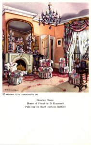 New York Hyde Park The Dresden Room Home Of Franklin D Roosevelt Painting By ...