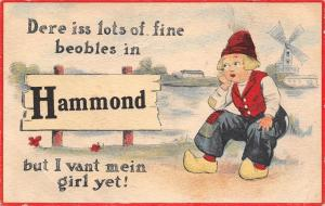 Hammond Indiana~Lots of Fine Beobles, But I Vant Mein Girl, Yet c1915
