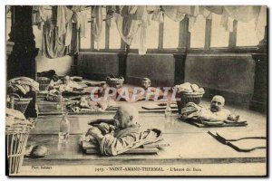 Postcard Old Saint Amand Thermal L & # 39heure TOP bath