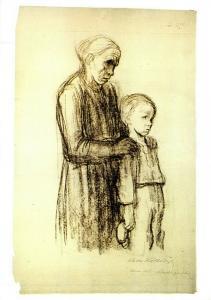 Art Postcard, Kindergericht (1925), by Kathe Kollwitz 4M