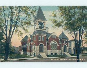 Divided-back CHURCH SCENE Canastota In Lenox - Near Oneida & Syracuse NY AD1312