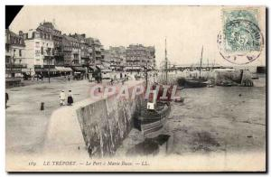 Treport - The Harbor at low tide - Old Postcard