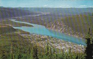 Canada Yukon Dawson City Aerial View