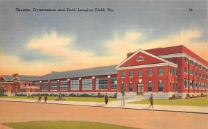 Theatre, Gymnasium and Pool at Langley Field Virginia, USA Military Unused