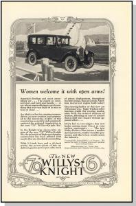Incredible 1926  70 Willys-Knight 6 Car/Auto/Automobile Ad