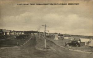 Dowd's Point Camp Hammonassett Beach State Park CT Cars & Tents Postcard