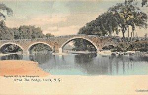 LEEDS NEW YORK THE BRIDGE~1900s ROTOGRAPH HANDCOLORED PHOTO POSTCARD