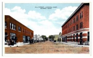 Early 1900s 6th Street looking East, Morris, MN Postcard