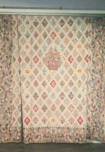 Jane Austen Bedroom Patchwork Quilt Postcard