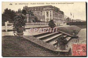 Old Postcard Deauville Beach Fleurie Royal Hotel and Boulevard Cornuche