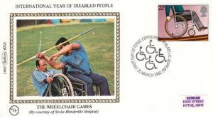Benham Wheelchair Games Disabled Stamp First Day Cover