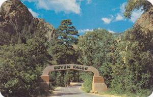 Entrance gate to South Cheyenne Canon,Colorado Springs,Colorado,40-60s