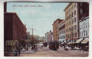 P285 JL 1901-7 postcard n. adams mass trolleys horse wagons