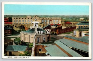 Manila Philippines PI~Bilibid Federal Prison~Tourists on Catwalk~1931 Postcard