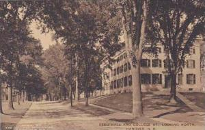 New Hampshire Hanover Reed Hall And College St. Looking North Albertype