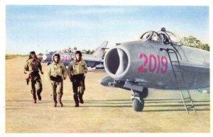 Không Quân Nhân Dân Việt Nam VIETNAM People's Air Force c1960s Vintage Postcard