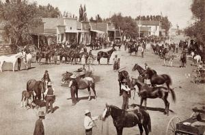 CA - Bishop Creek. Harvest Festival, circa 1886  (Reproduction)