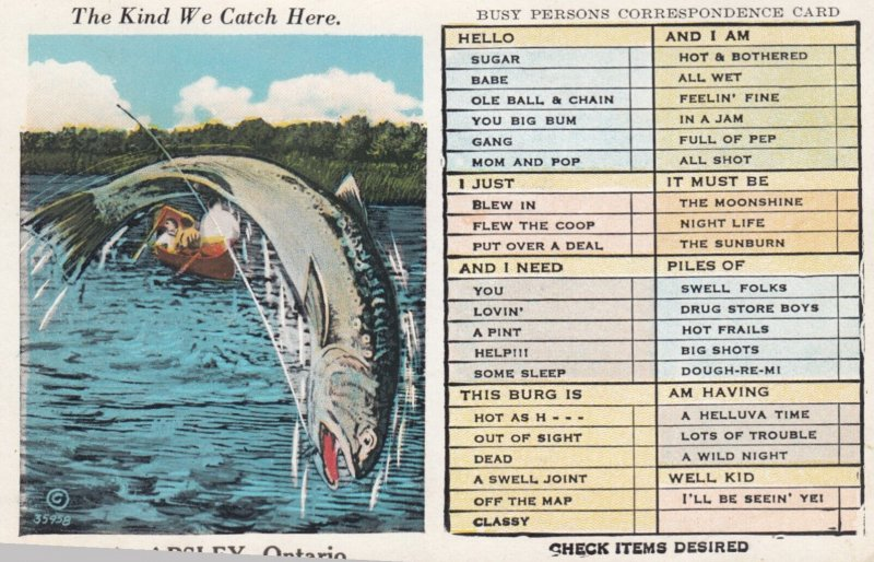 APSLEY , Ontario , Canada , 1930s ; Fishing Exaggeration #7