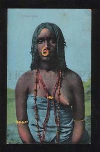 056429 EGYPT Semi-Nude black Nubian Woman Vintage PC