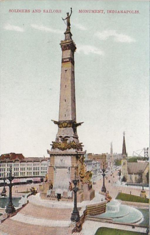 Indiana Indianapolis Soldiers and Sailors Monument 1911