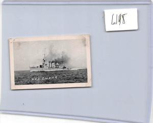 6198 U.S.S. Omaha Warship mini card
