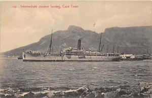 6384 Intermediate Steamer leaving, Cape Town