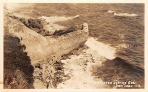 haunted Sentry box San Juan Peurto Rico RPPC c1930s AZO 3.5 x 5.5