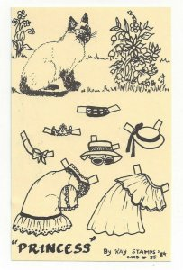 PRINCESS By Kay Stamps, Cut Out Cat Card #55, 1984