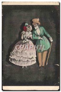 Postcard Old Fashion Costume